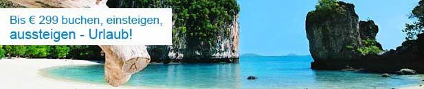 Bis 399 CHF buchen, einsteigen, aussteigen – Urlaub!